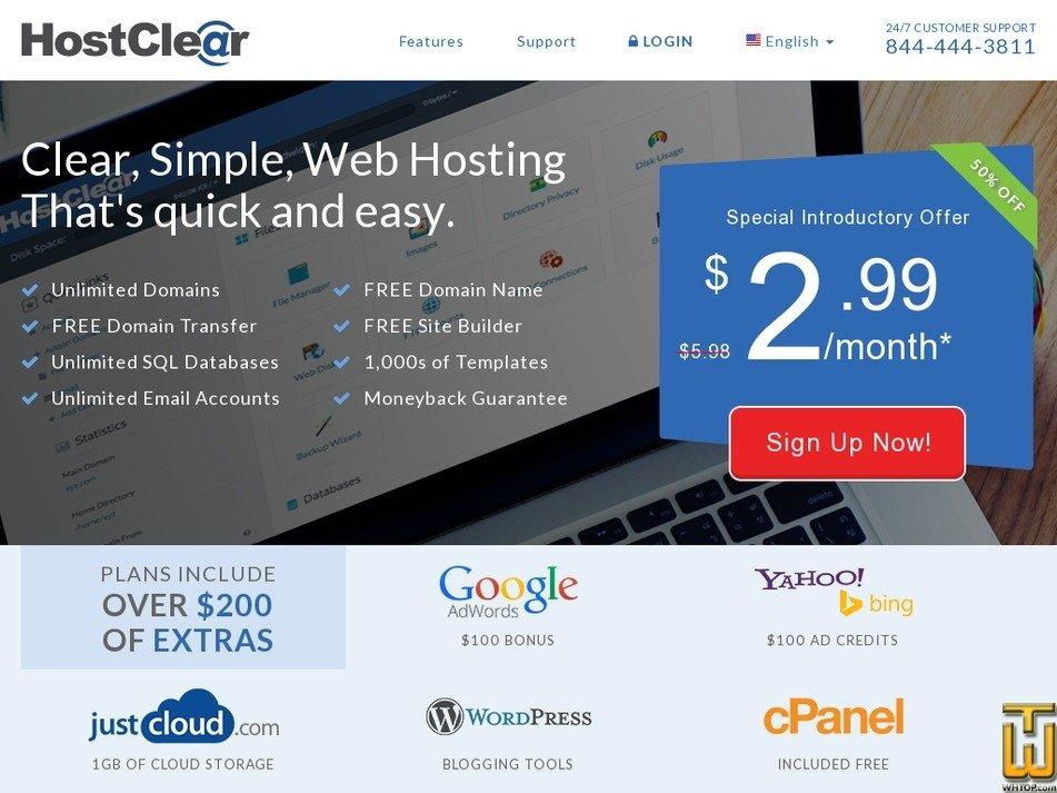 hostclear.com Screenshot
