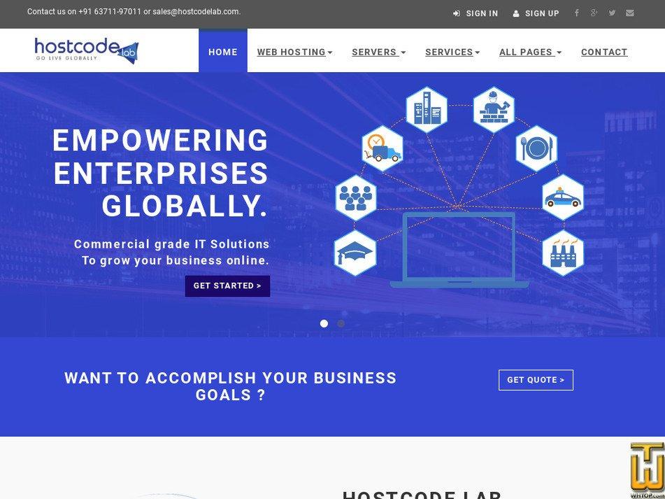 hostcodelab.com Screenshot