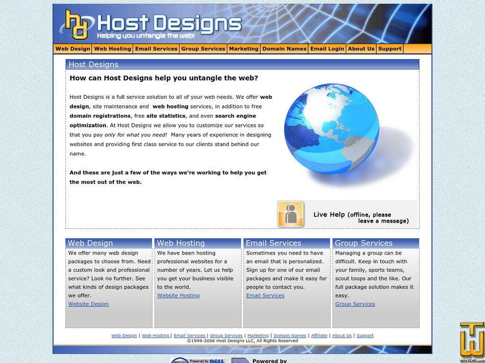 hostdesigns.com Screenshot