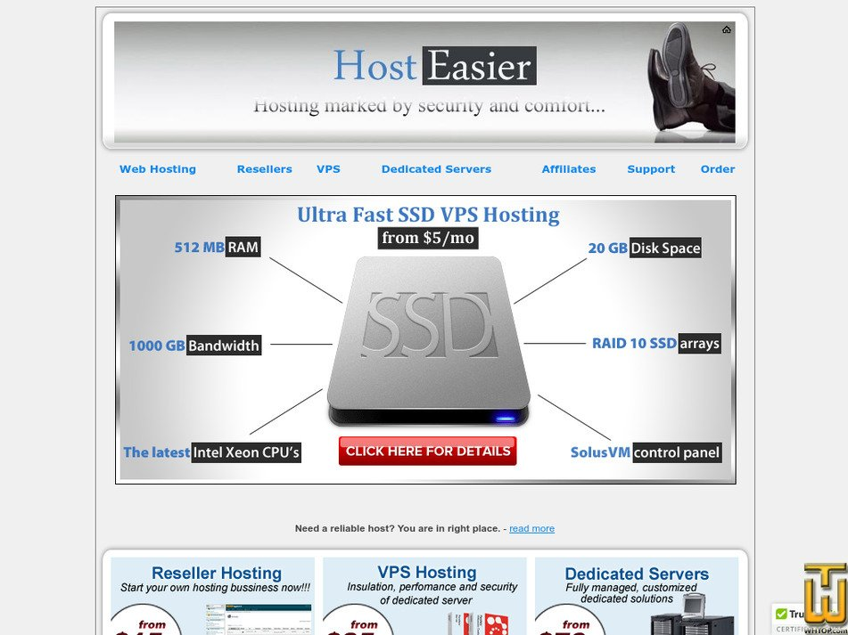 hosteasier.com Screenshot