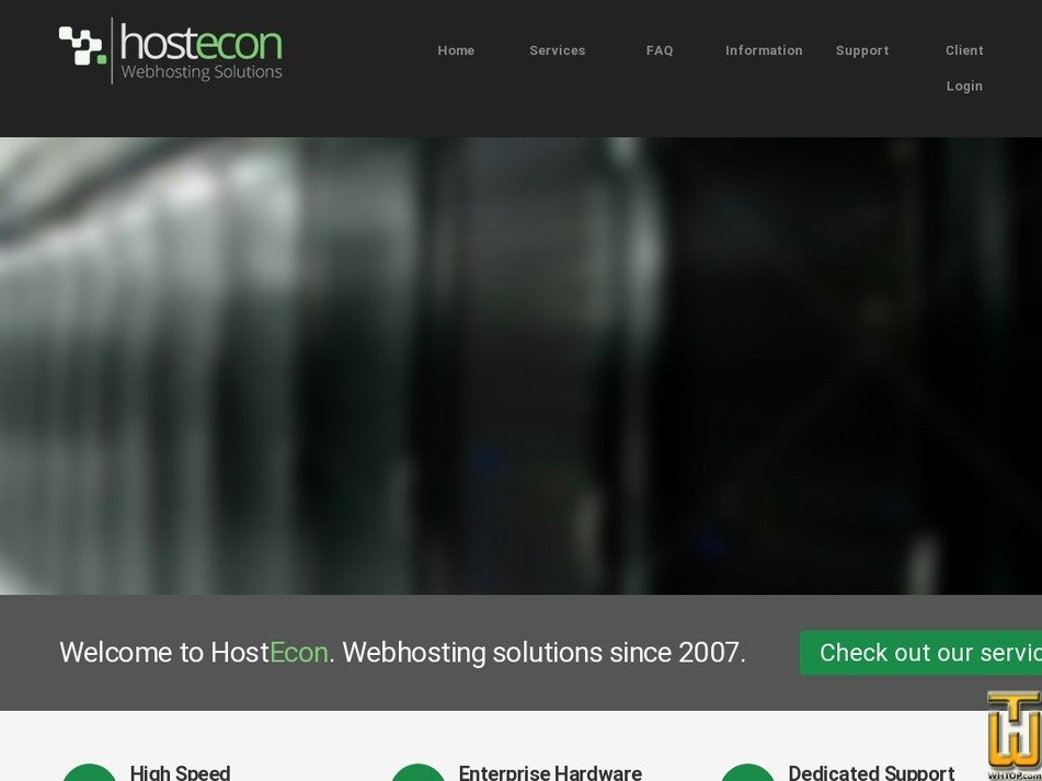 hostecon.com Screenshot