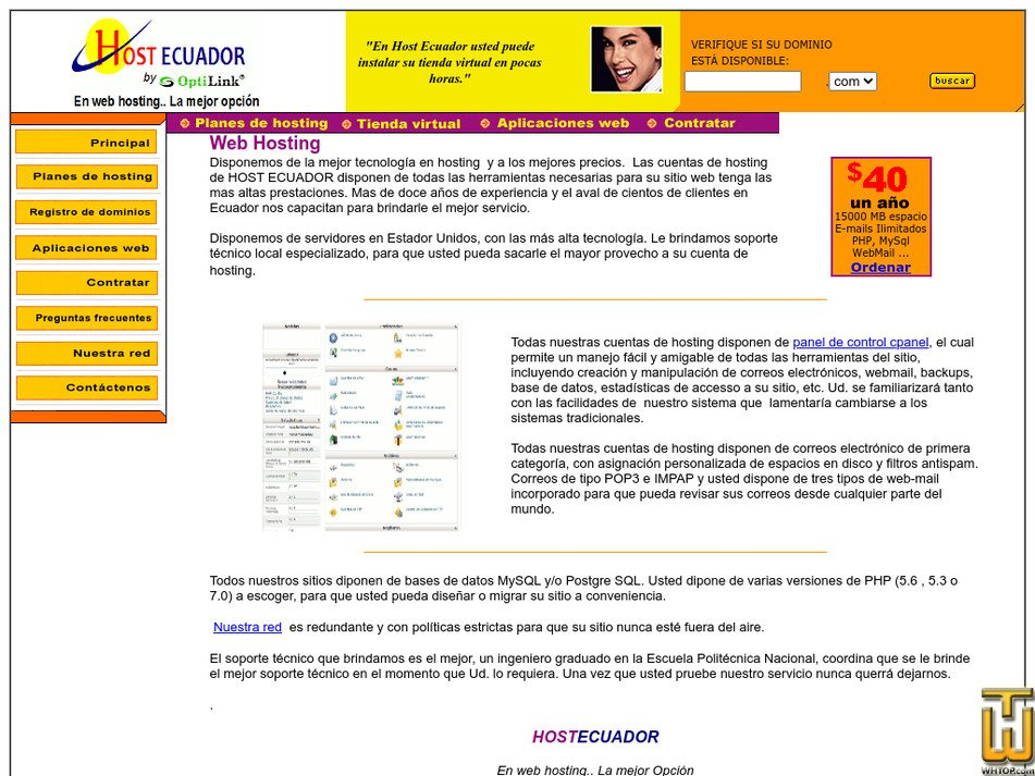 hostecuador.com Screenshot