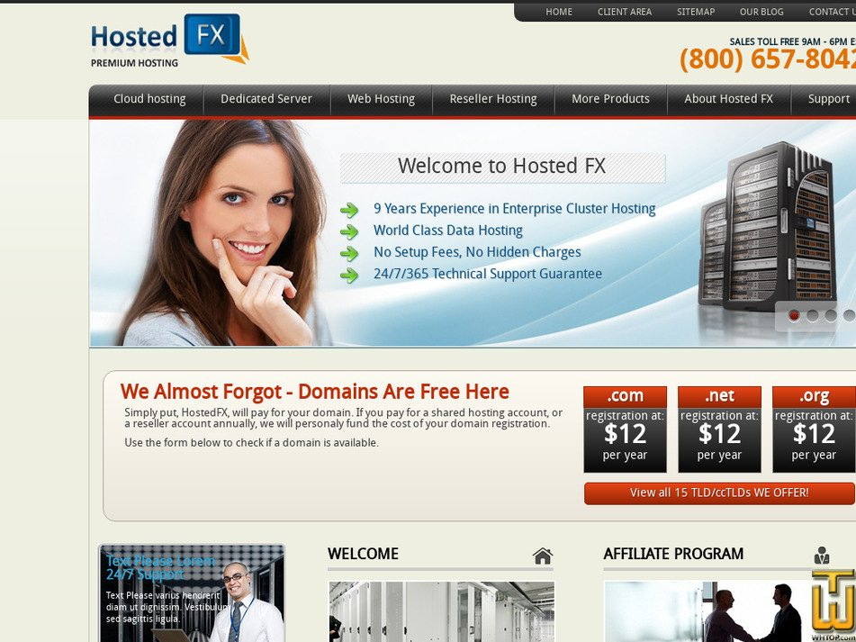 hostedfx.com Screenshot