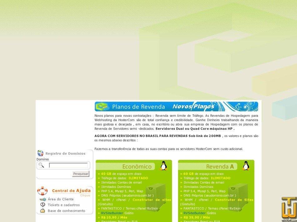 hostercom.com.br Screenshot