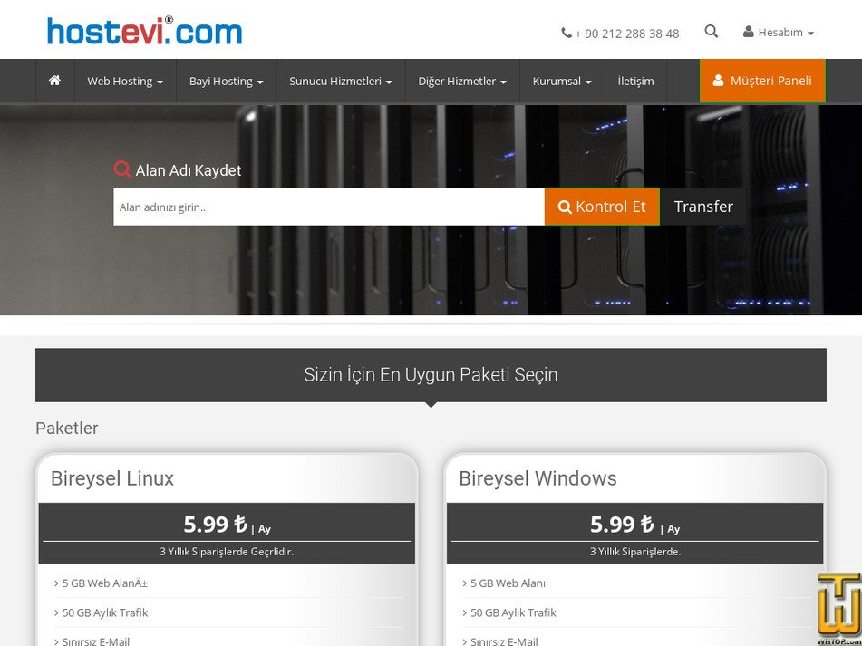hostevi.com Screenshot