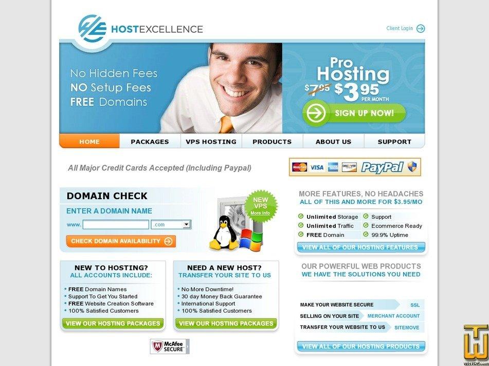 hostexcellence.com Screenshot