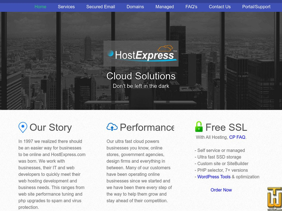 hostexpress.com Screenshot