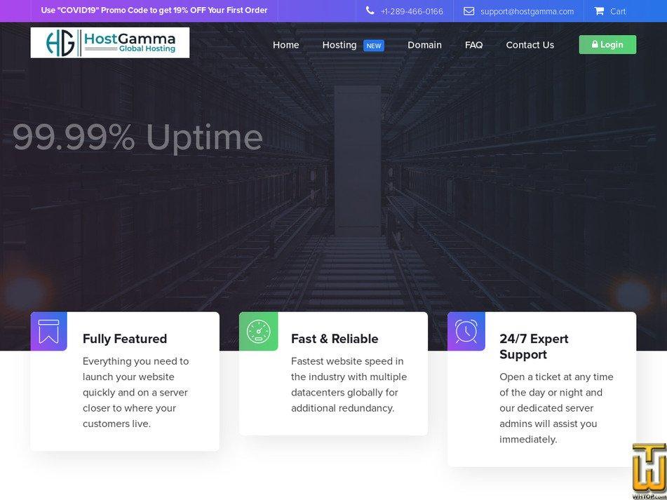 hostgamma.com Screenshot