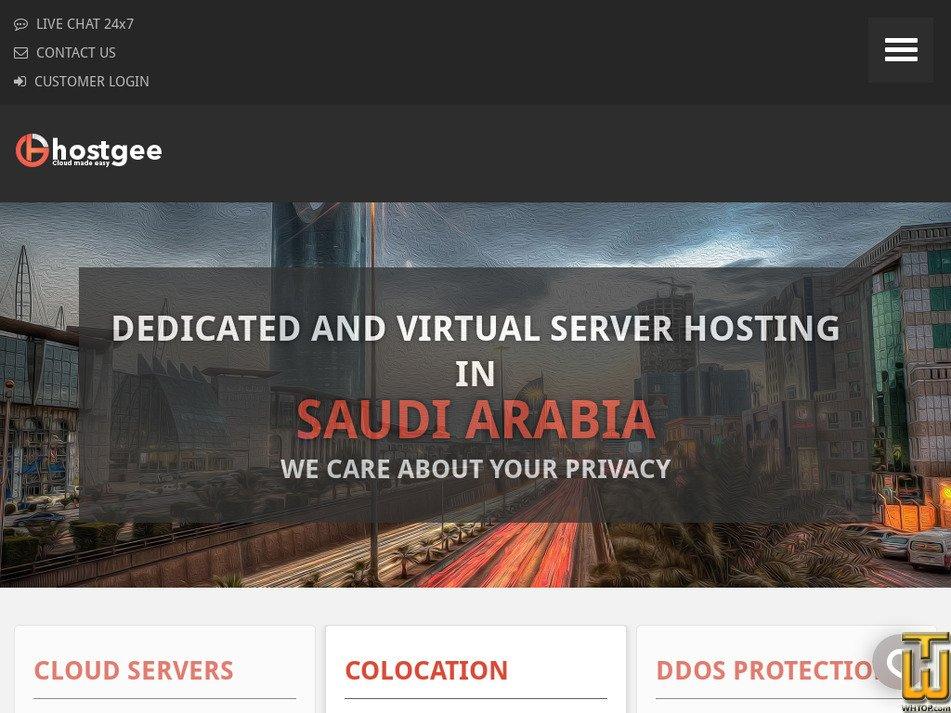 hostgee.com Screenshot