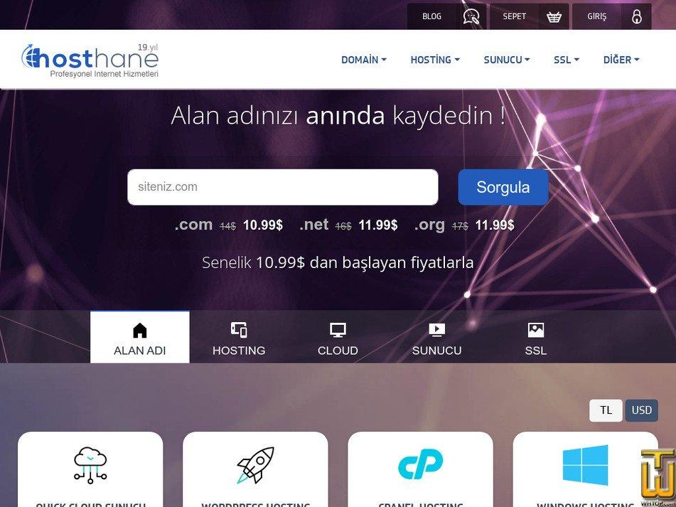 hosthane.com Screenshot