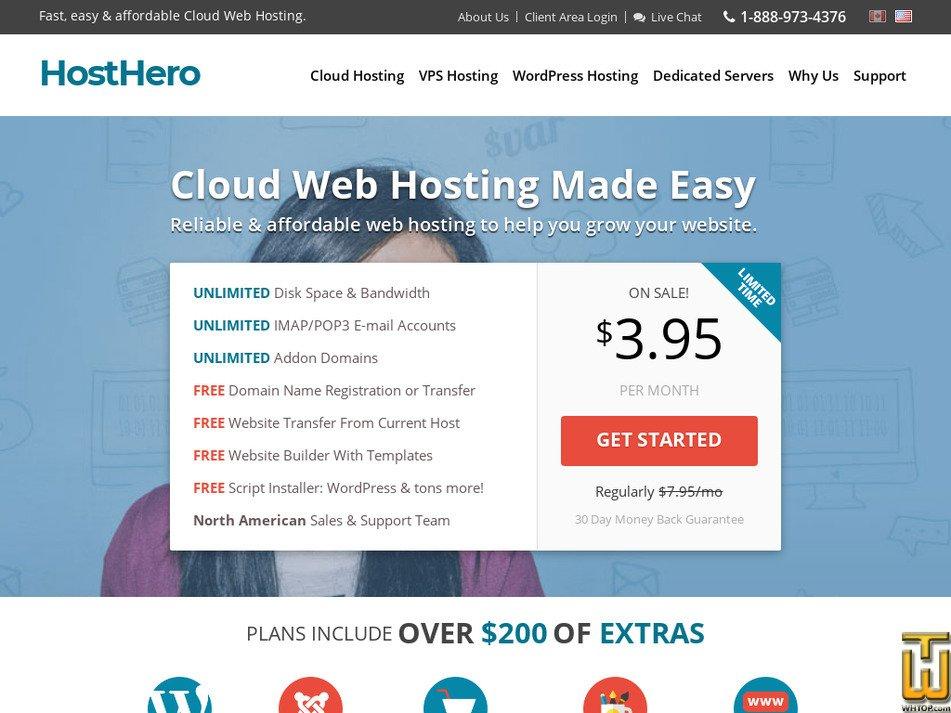 hosthero.com Screenshot