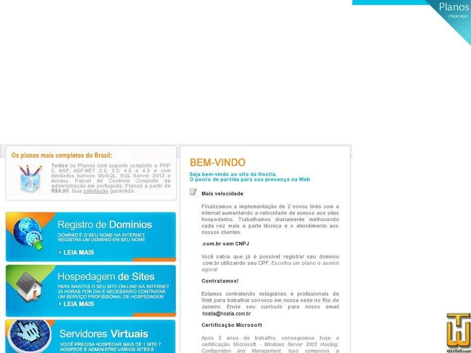 hostia.com.br Screenshot