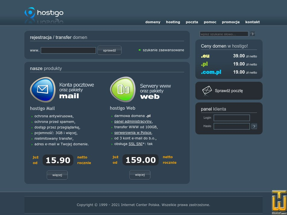 hostigo.pl Screenshot