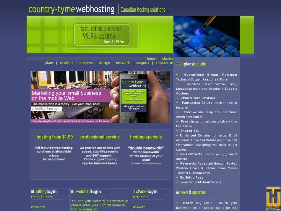hosting-4-me.com Screenshot