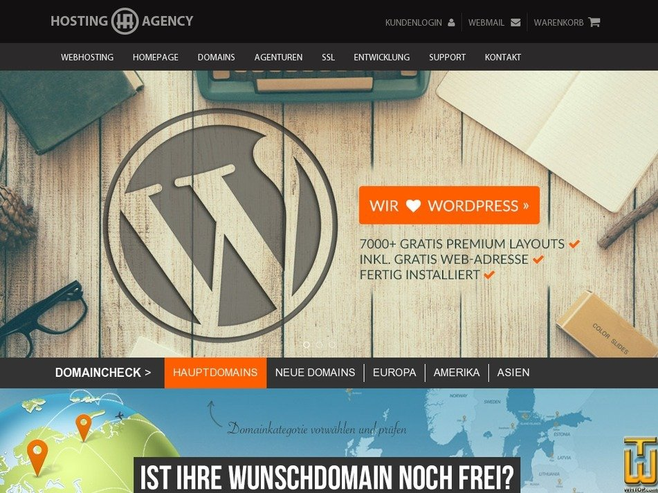 hosting-agency.de Screenshot