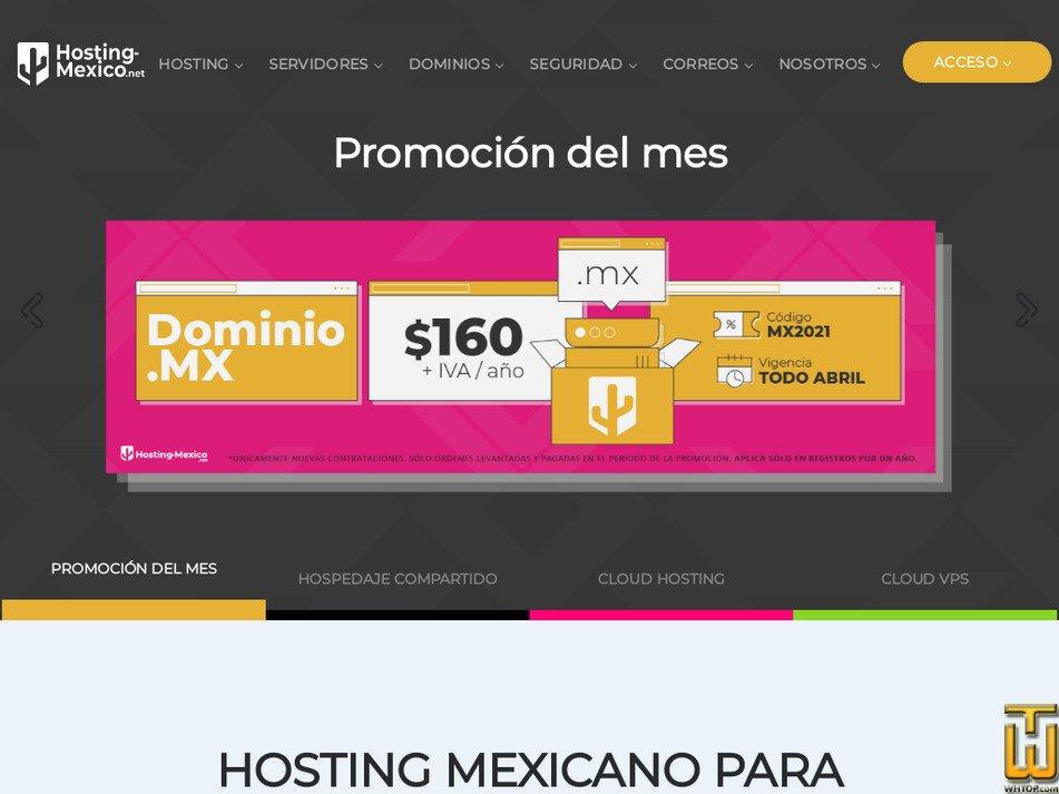 hosting-mexico.net Screenshot