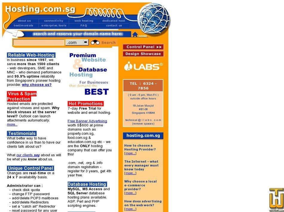hosting.com.sg Screenshot