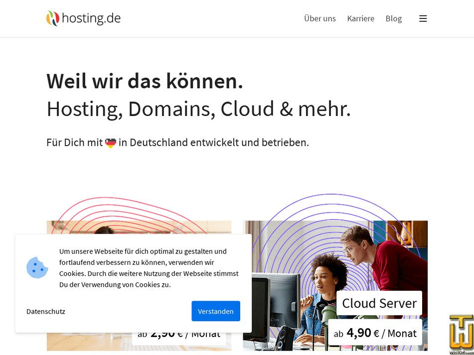 hosting.de Screenshot
