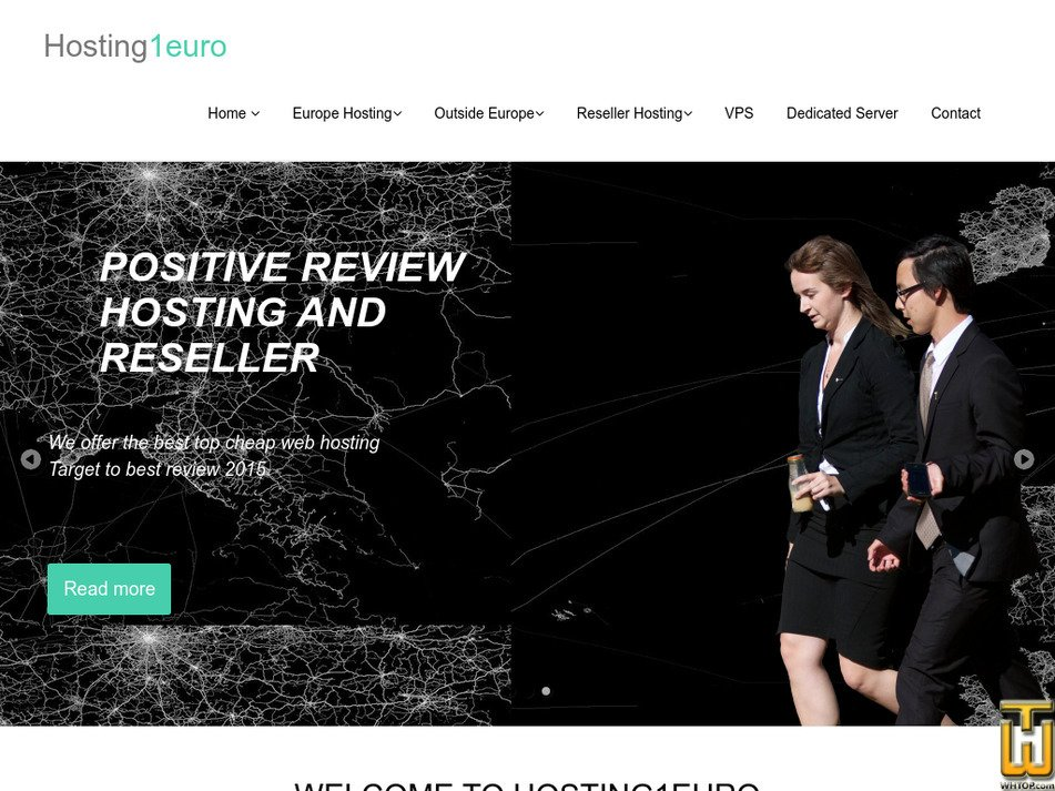 hosting1euro.com Screenshot