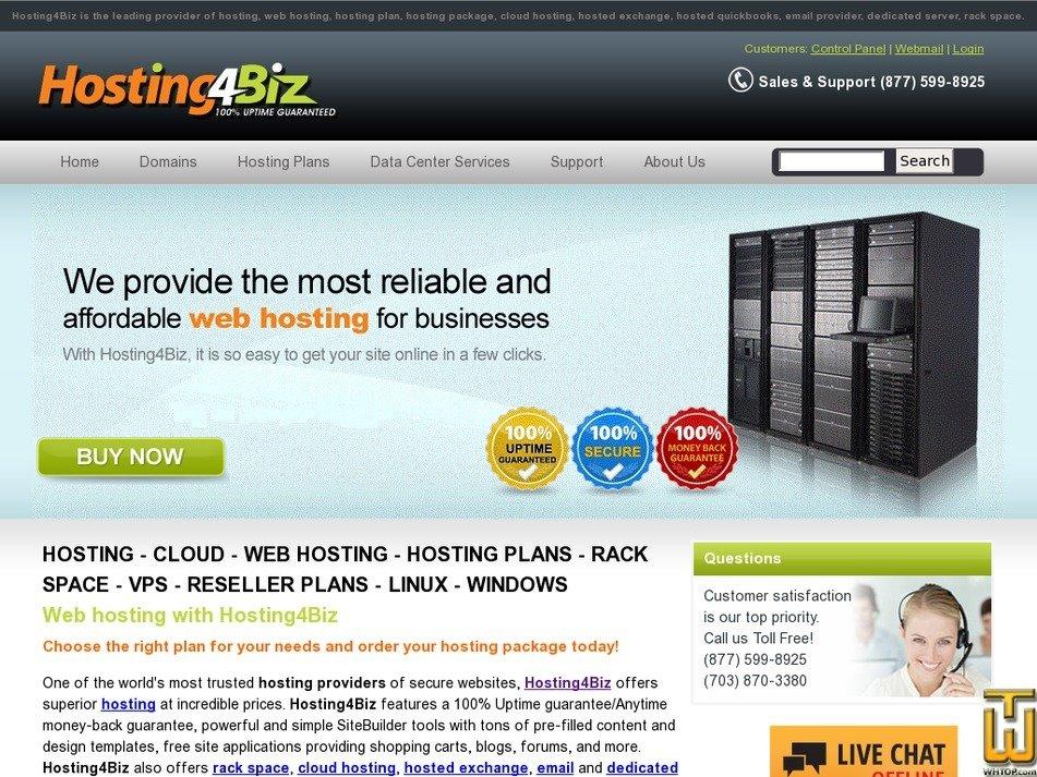 hosting4biz.com Screenshot