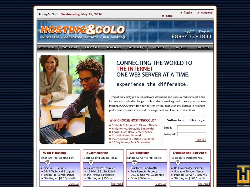 hostingandcolo.com Screenshot