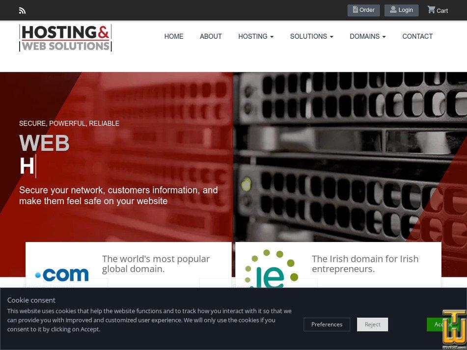 hostingandwebsolutions.com Screenshot