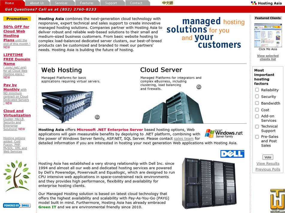hostingasia.com Screenshot