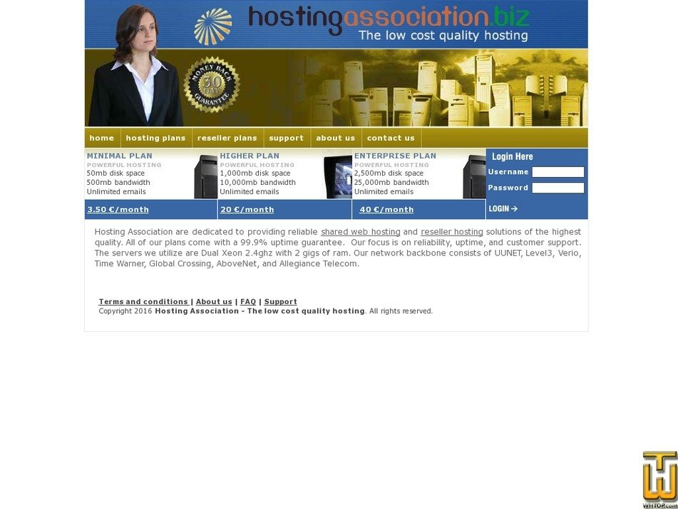hostingassociation.biz Screenshot