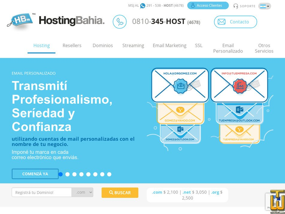 hostingbahia.com.ar Screenshot