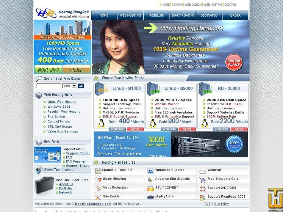 hostingbangkok.com Screenshot