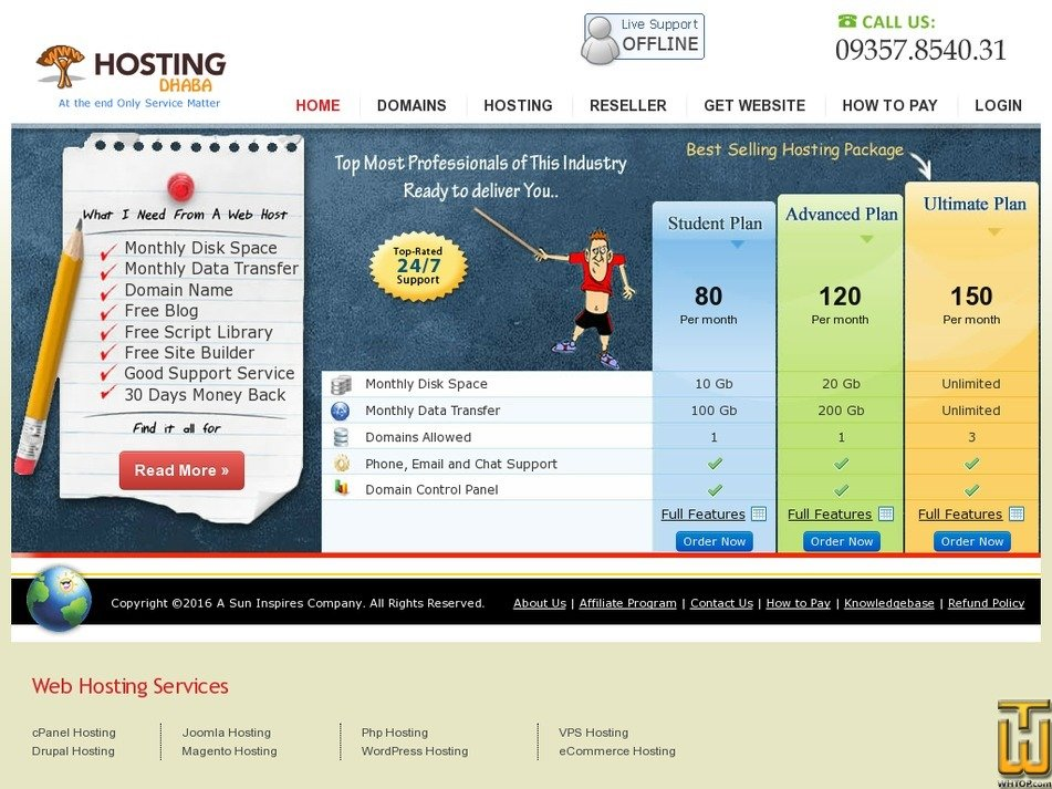 hostingdhaba.com Screenshot