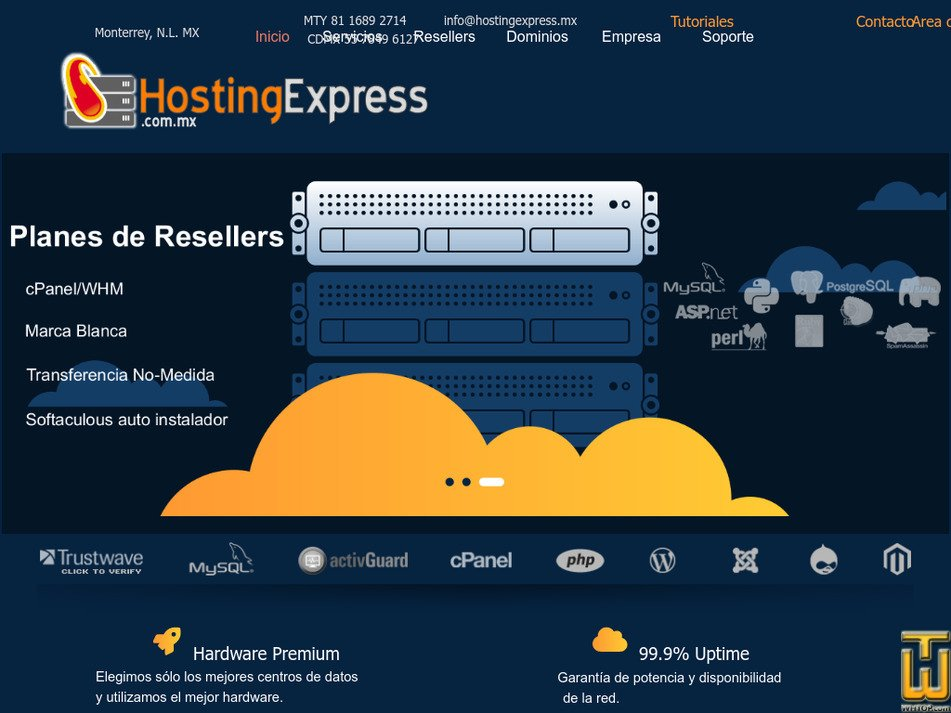 hostingexpress.com.mx Screenshot