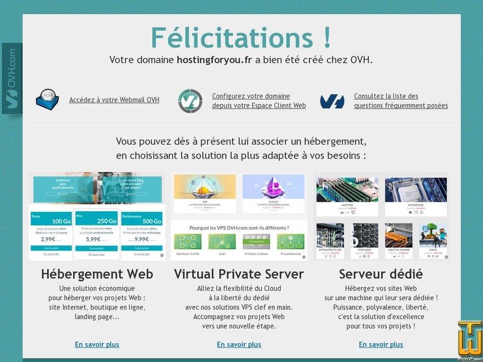 hostingforyou.fr Screenshot