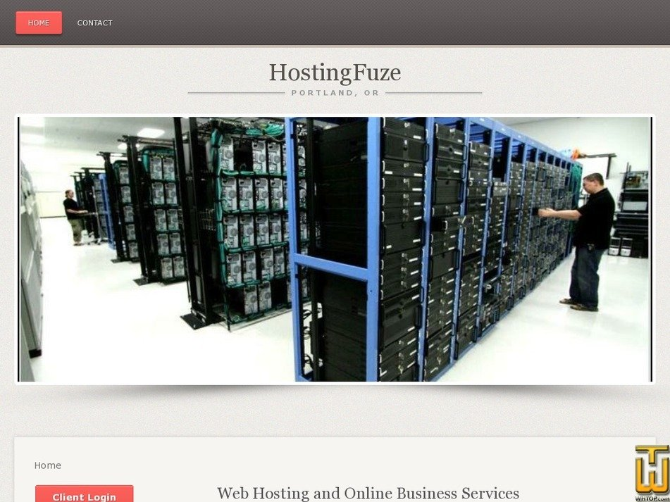 hostingfuze.com Screenshot