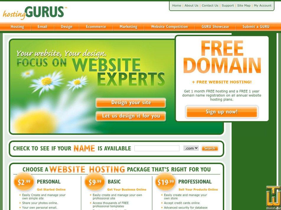 hostinggurus.net Screenshot