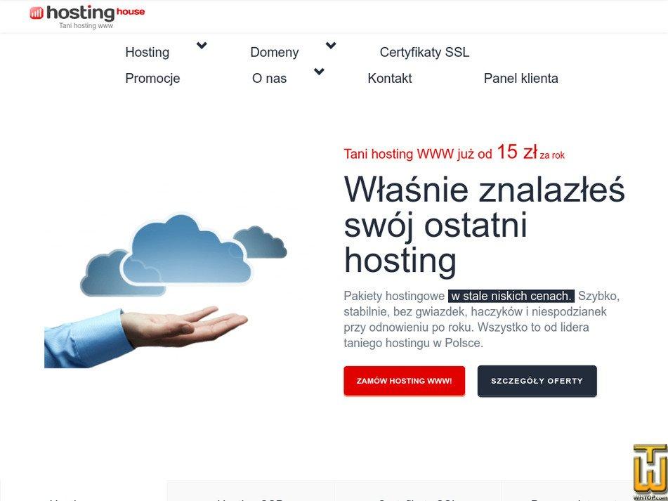 hostinghouse.pl Screenshot