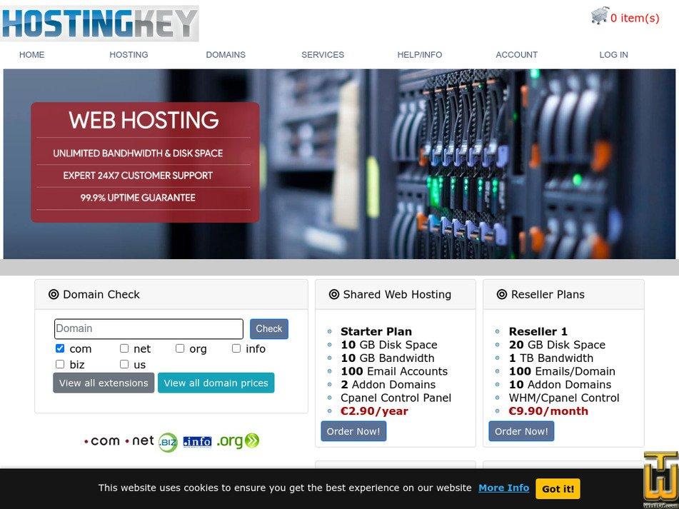 hostingkey.com Screenshot