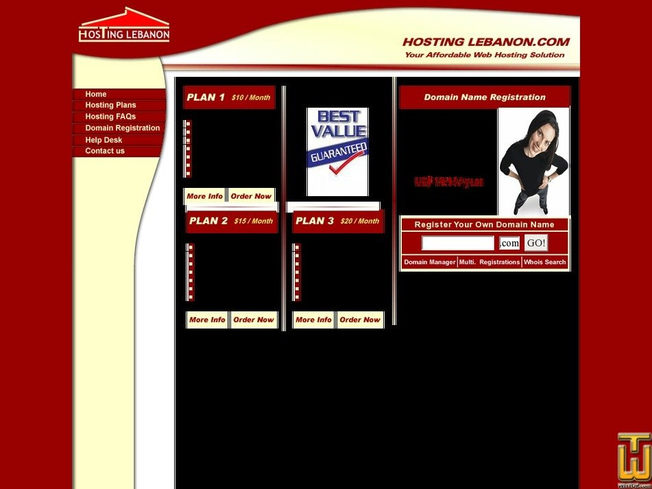 hostinglebanon.com Screenshot
