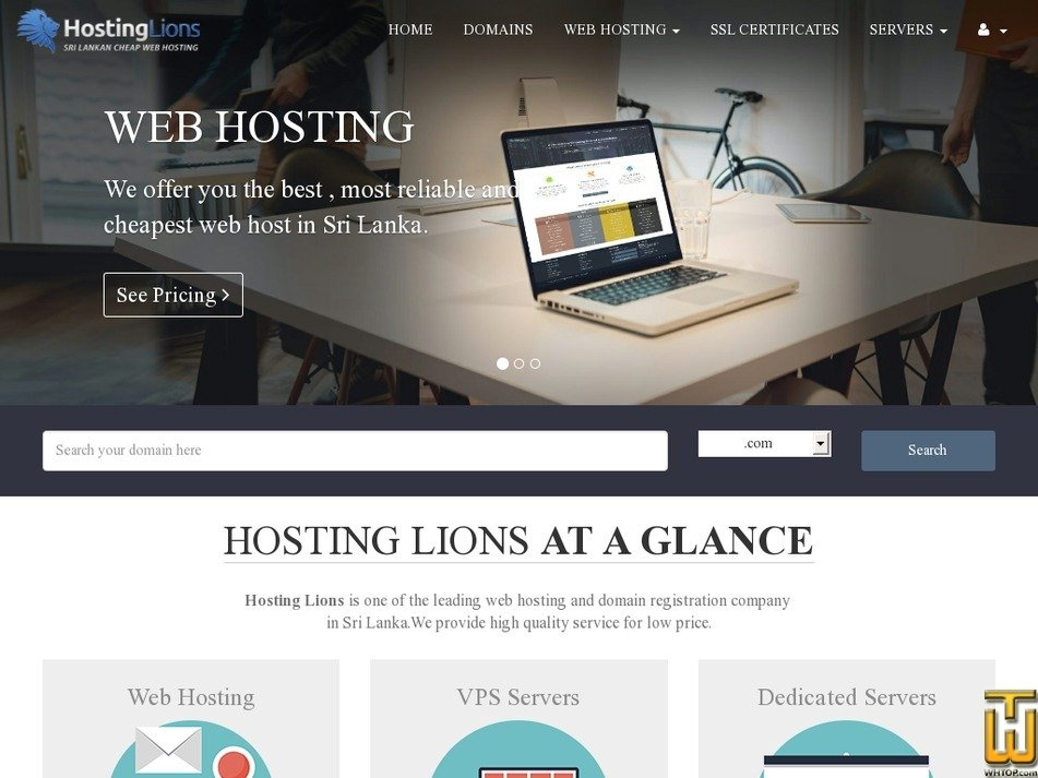 hostinglions.com Screenshot