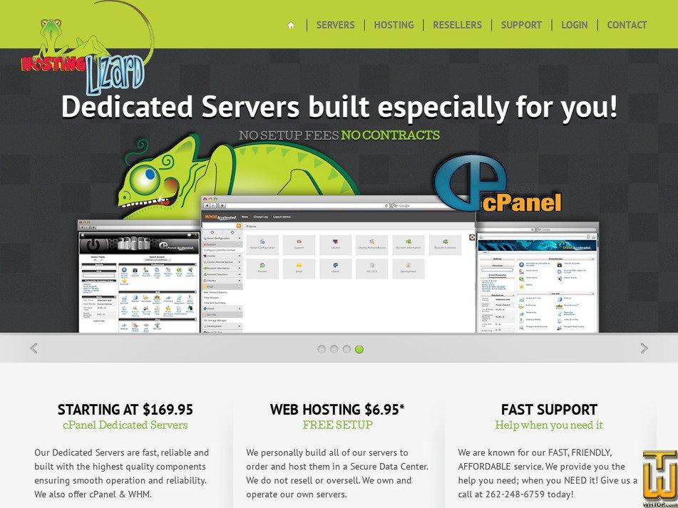hostinglizard.com Screenshot