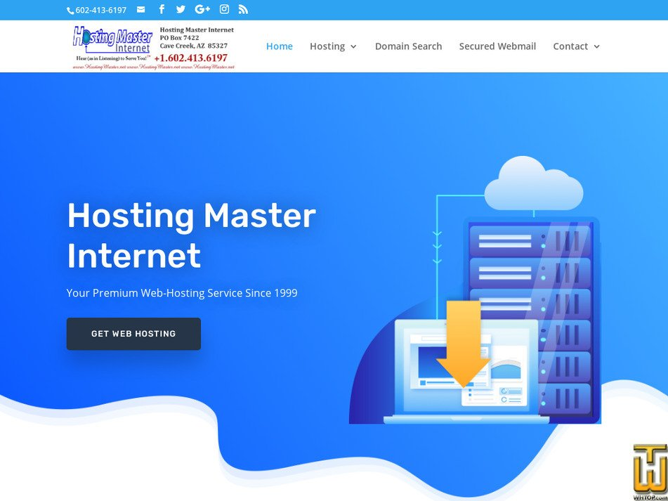 hostingmaster.net Screenshot
