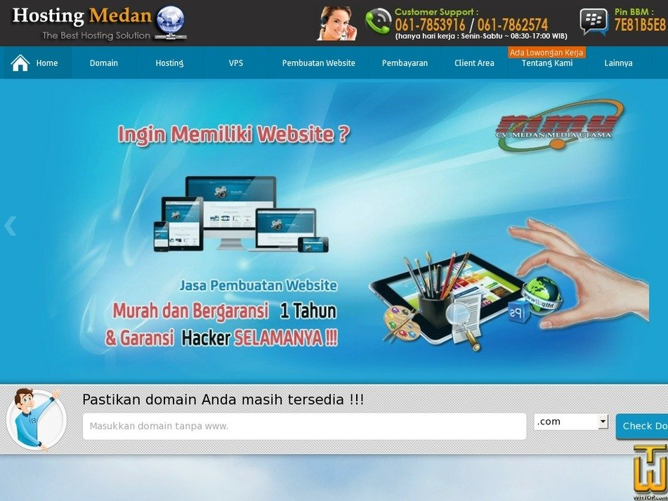 hostingmedan.com Screenshot