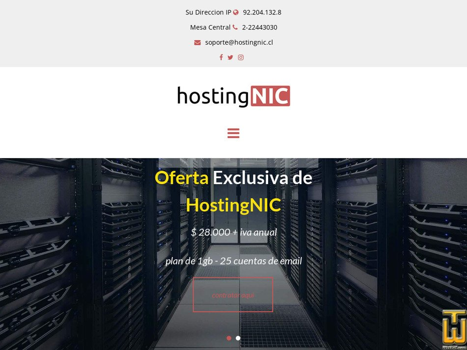 hostingnic.cl Screenshot