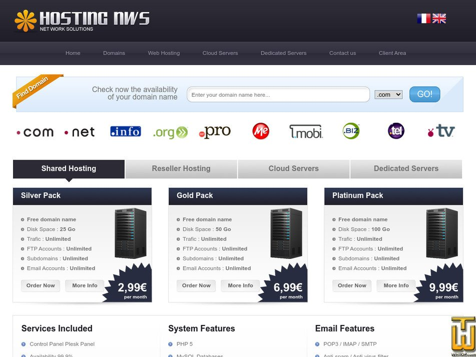 hostingnws.com Screenshot
