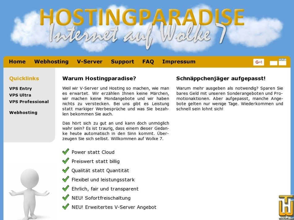 hostingparadise.eu Screenshot