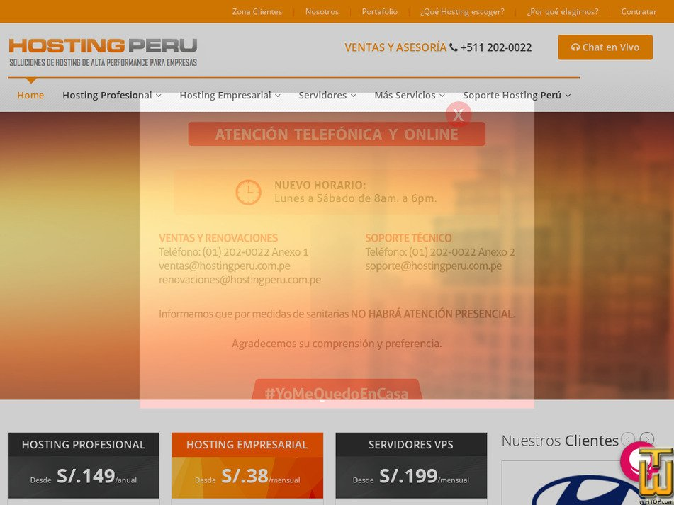 hostingperu.com.pe Screenshot