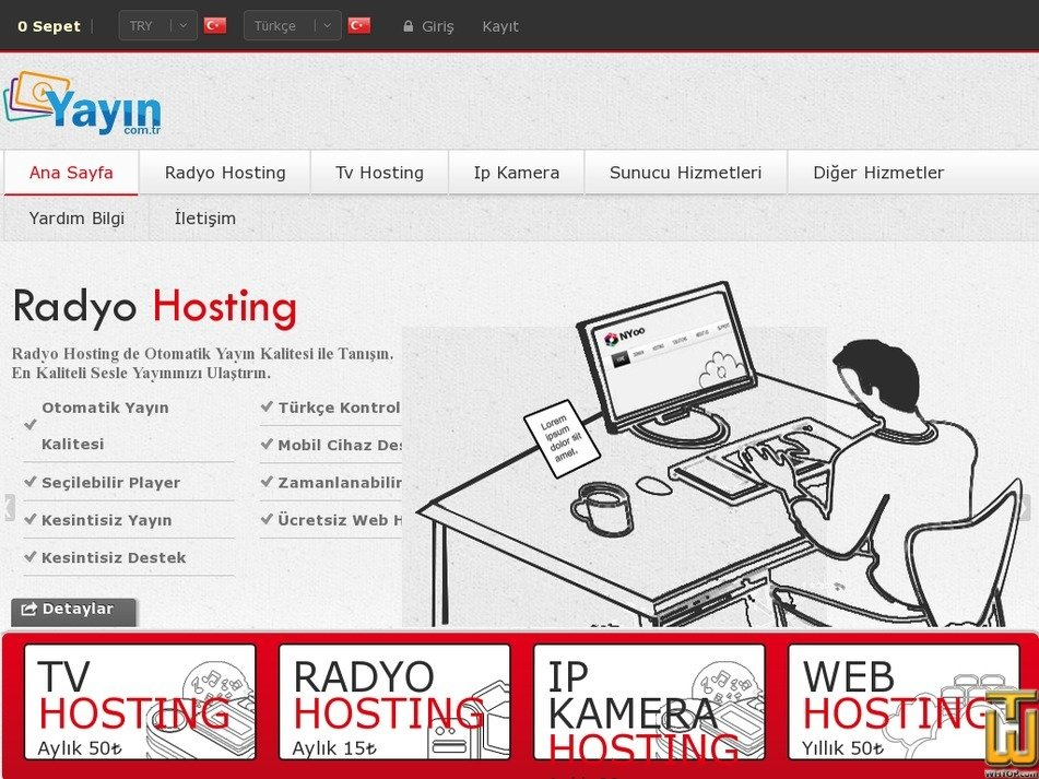hostingradyo.com Screenshot
