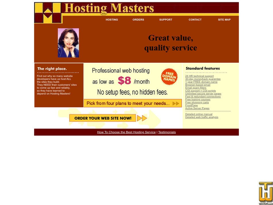 hostings.com Screenshot