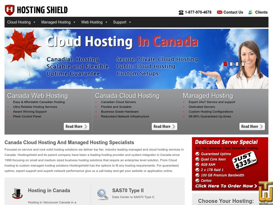 hostingshield.com Screenshot