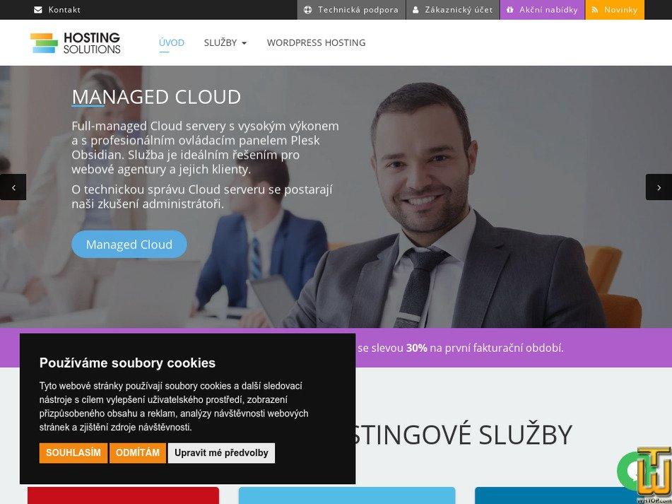 hostingsolutions.cz Screenshot